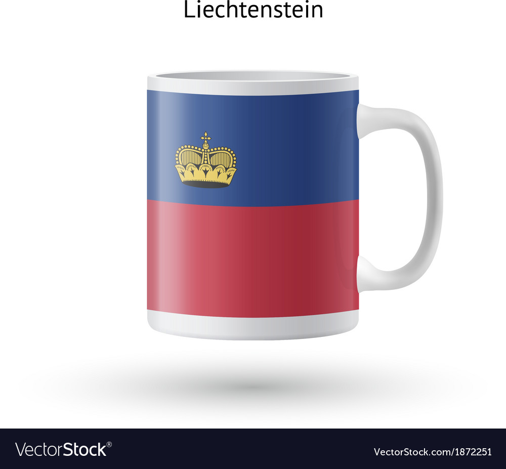 Liechtenstein flag souvenir mug on white vector | Price: 1 Credit (USD $1)
