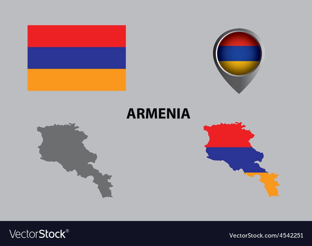 Map of armenia and symbol vector | Price: 1 Credit (USD $1)