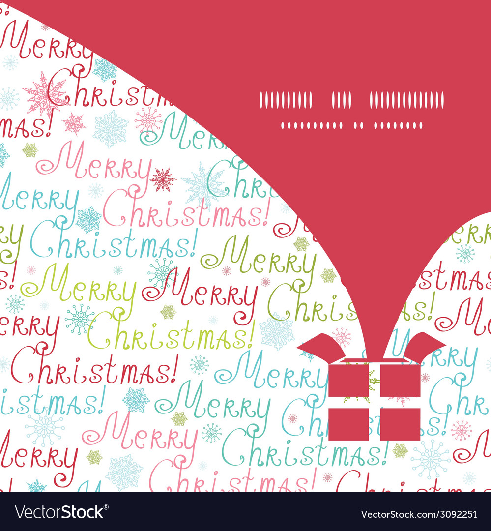Merry christmas text gift box silhouette pattern vector | Price: 1 Credit (USD $1)