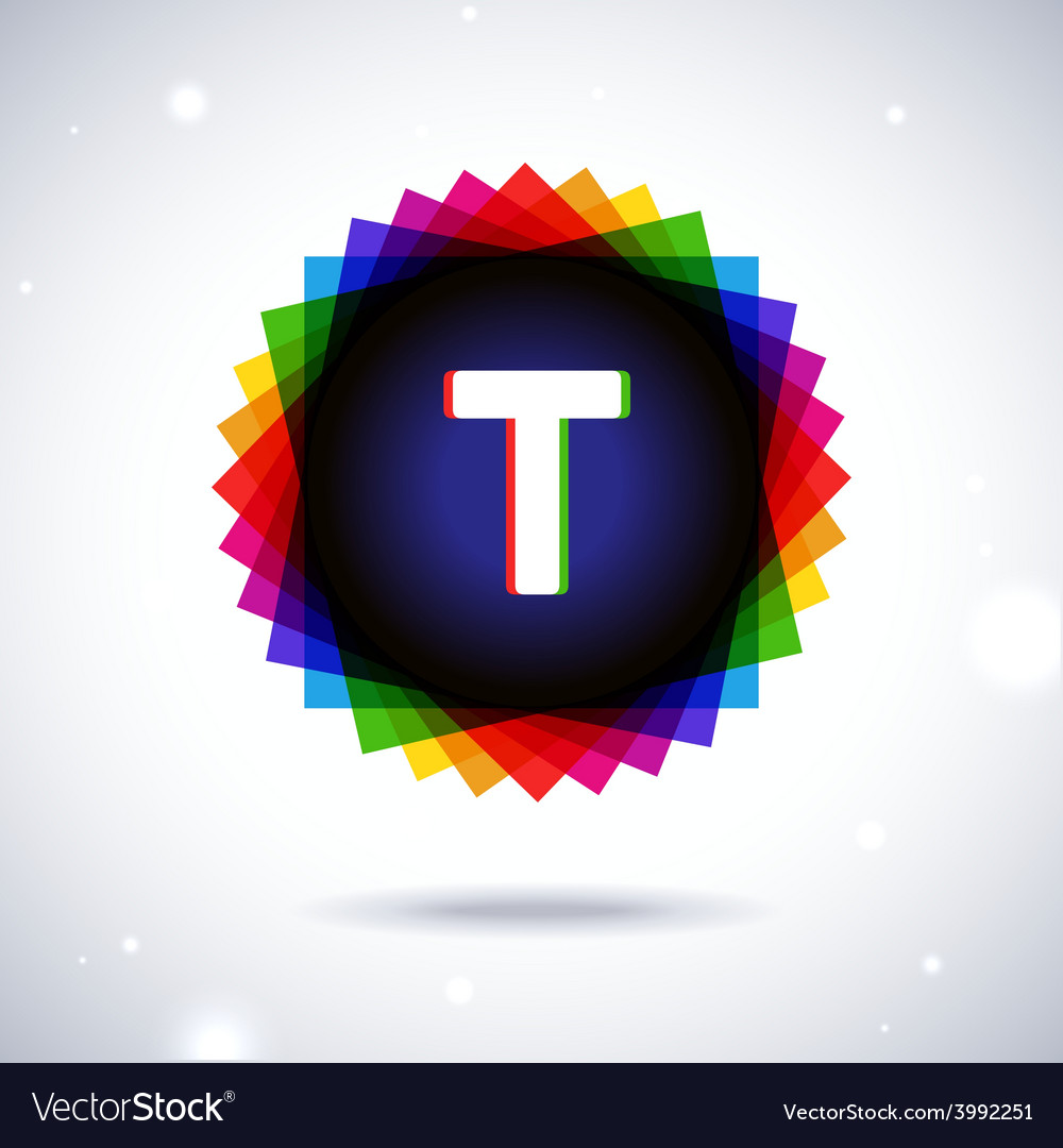 Spectrum logo icon letter t vector | Price: 1 Credit (USD $1)