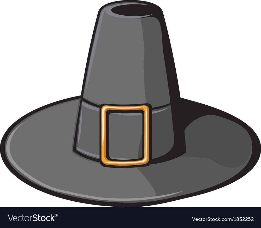 Black pilgrim hat vector | Price: 1 Credit (USD $1)