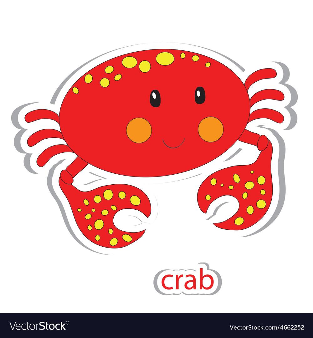 Cartoon crab vector   Price: 1 Credit (USD $1)