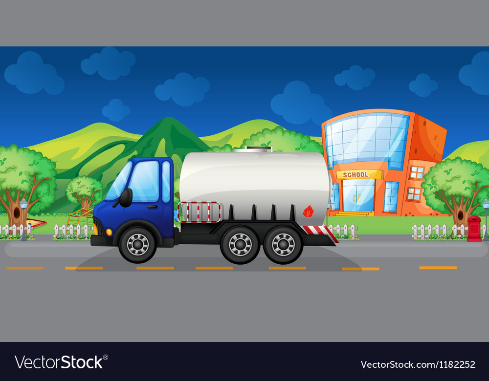 Cartoon oil truck vector | Price: 1 Credit (USD $1)