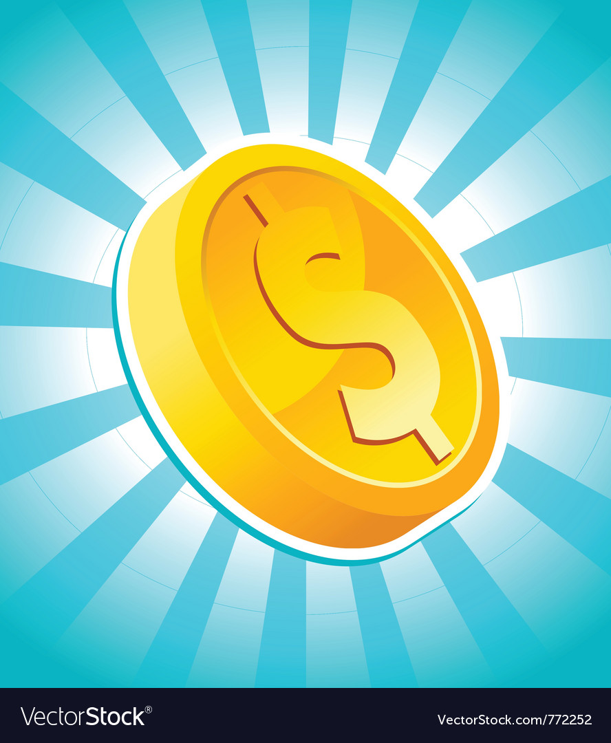 Dollar gold coin vector | Price: 1 Credit (USD $1)
