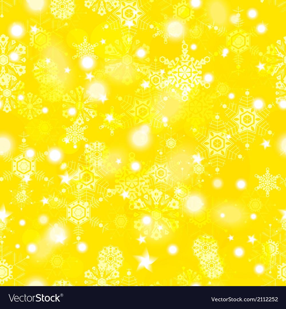 Golden winter seamless pattern vector | Price: 1 Credit (USD $1)