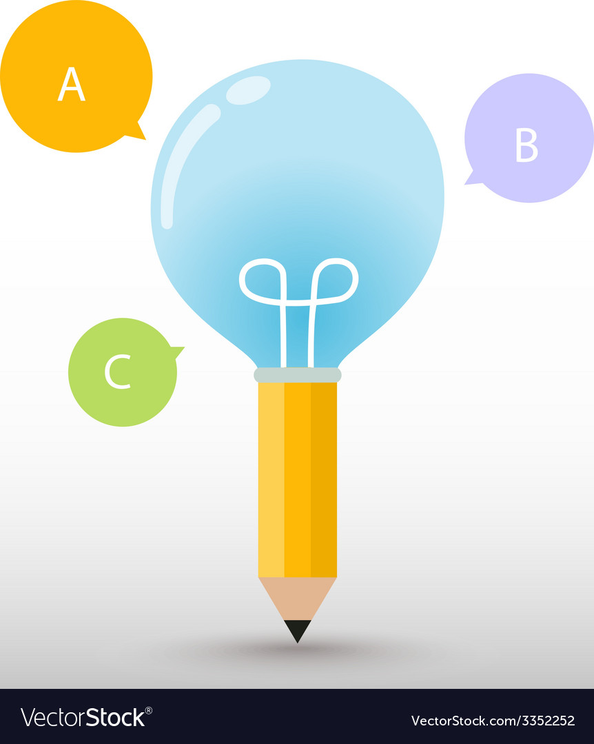 Pencil bulb vector | Price: 1 Credit (USD $1)