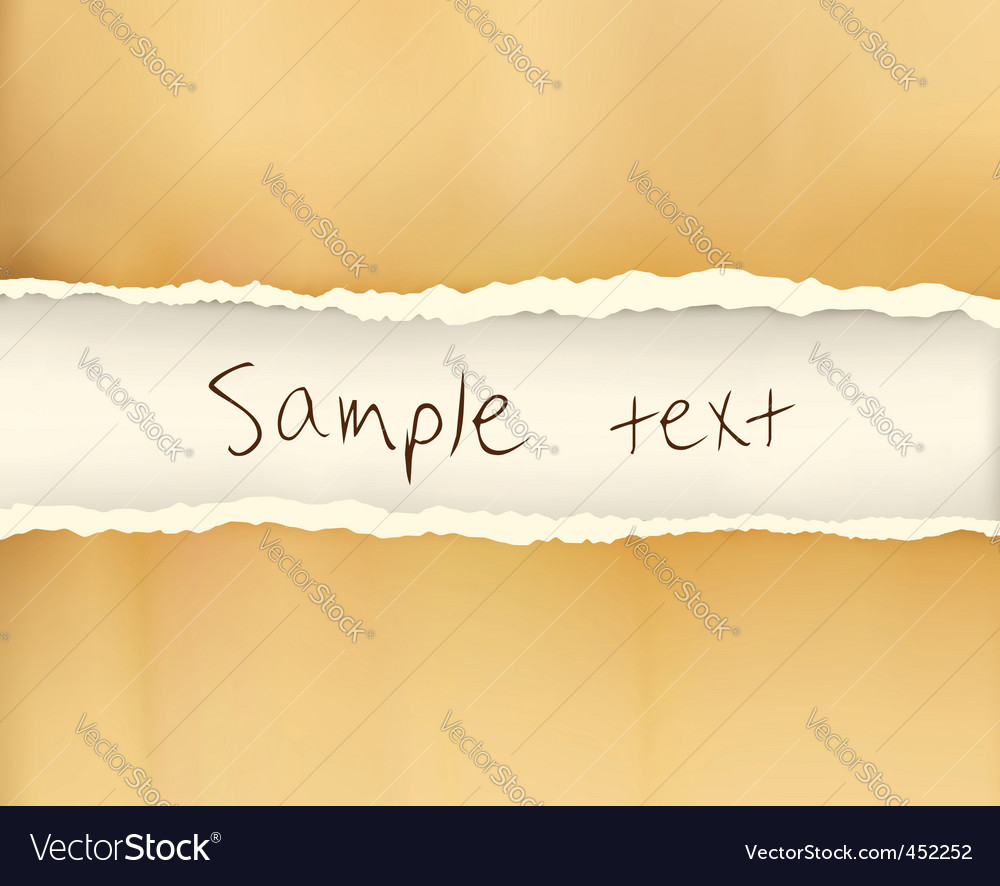 Ripped old paper vector | Price: 1 Credit (USD $1)