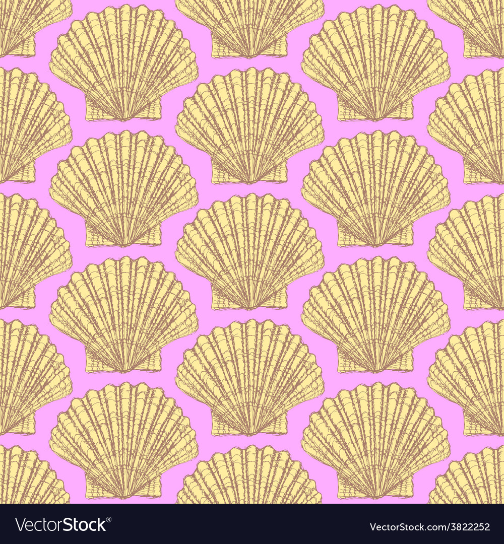 Sketch sea shell in vintage style vector | Price: 1 Credit (USD $1)
