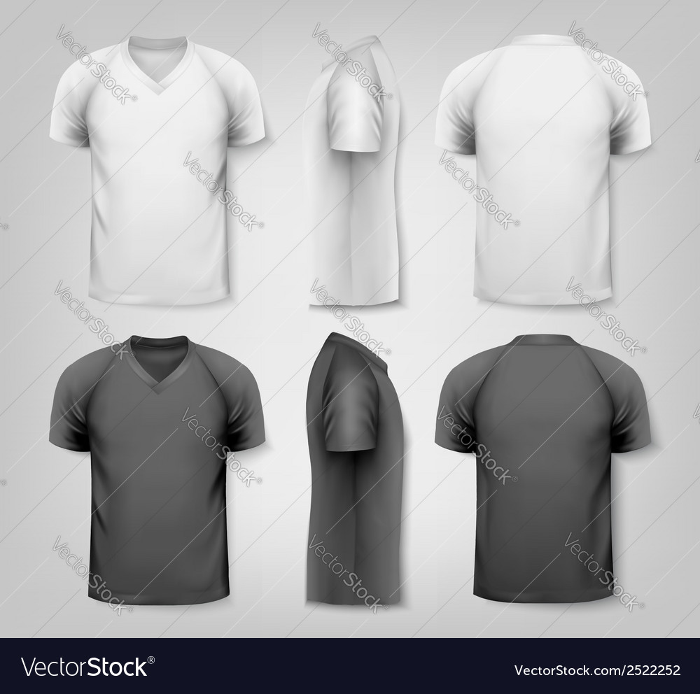 V-neck t-shirts with sample text space vector | Price: 1 Credit (USD $1)
