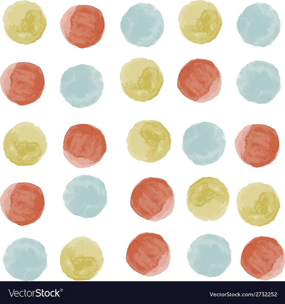 Watercolor circles seamless pattern vector | Price: 1 Credit (USD $1)