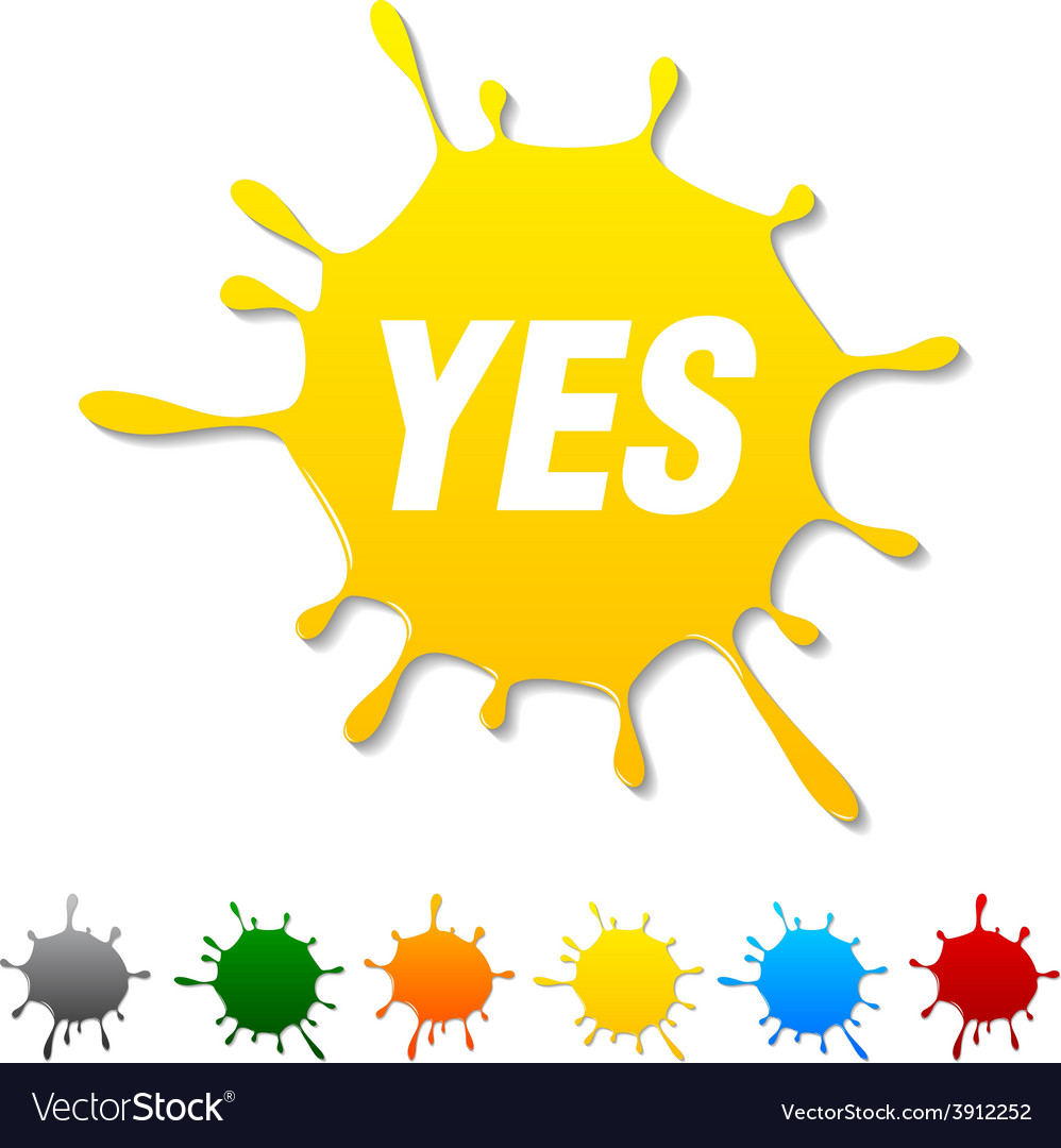 Yes blot vector | Price: 1 Credit (USD $1)