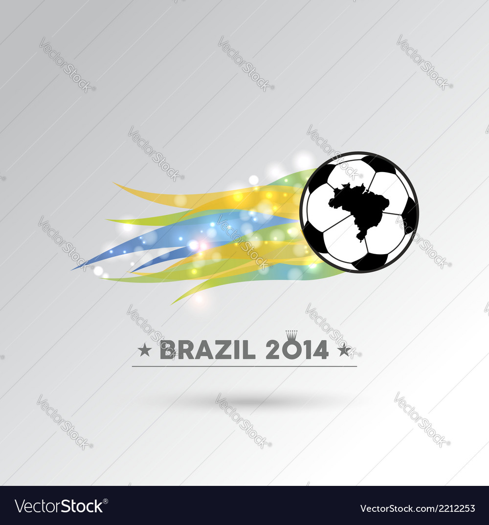 Brazil 2014 soccer ball design element vector | Price: 1 Credit (USD $1)