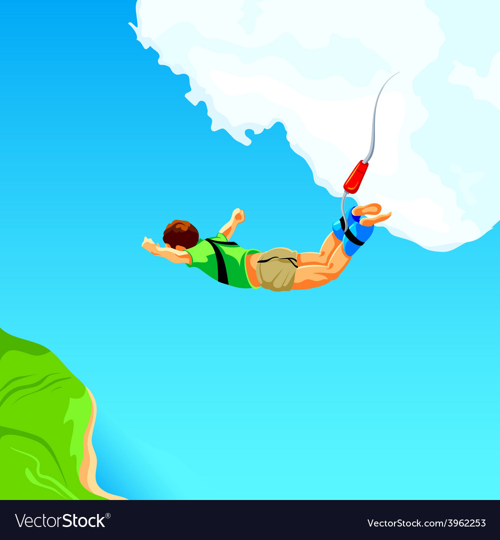Bungee jumping vector | Price: 1 Credit (USD $1)