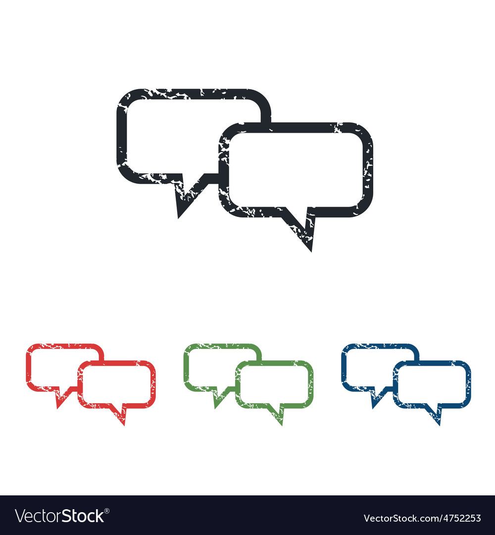 Chat grunge icon set vector | Price: 1 Credit (USD $1)