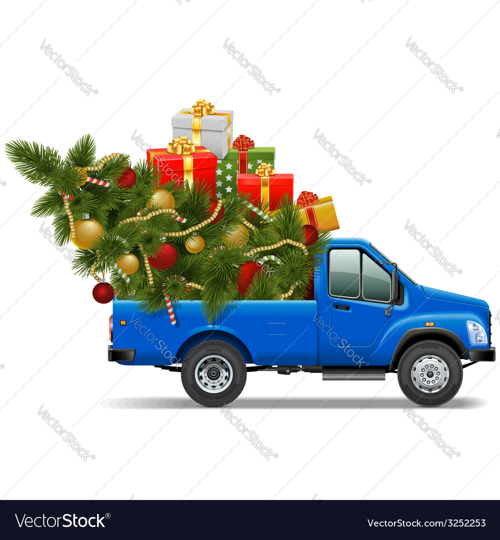 Christmas pickup vector | Price: 3 Credit (USD $3)