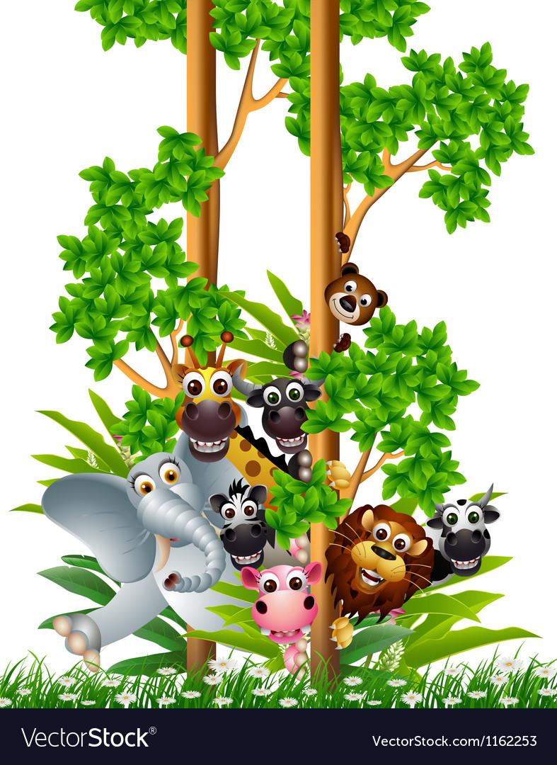 Funny animal cartoon collection vector   Price: 1 Credit (USD $1)