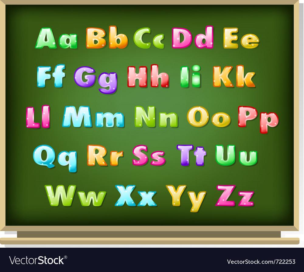Glossy alphabet vector | Price: 1 Credit (USD $1)