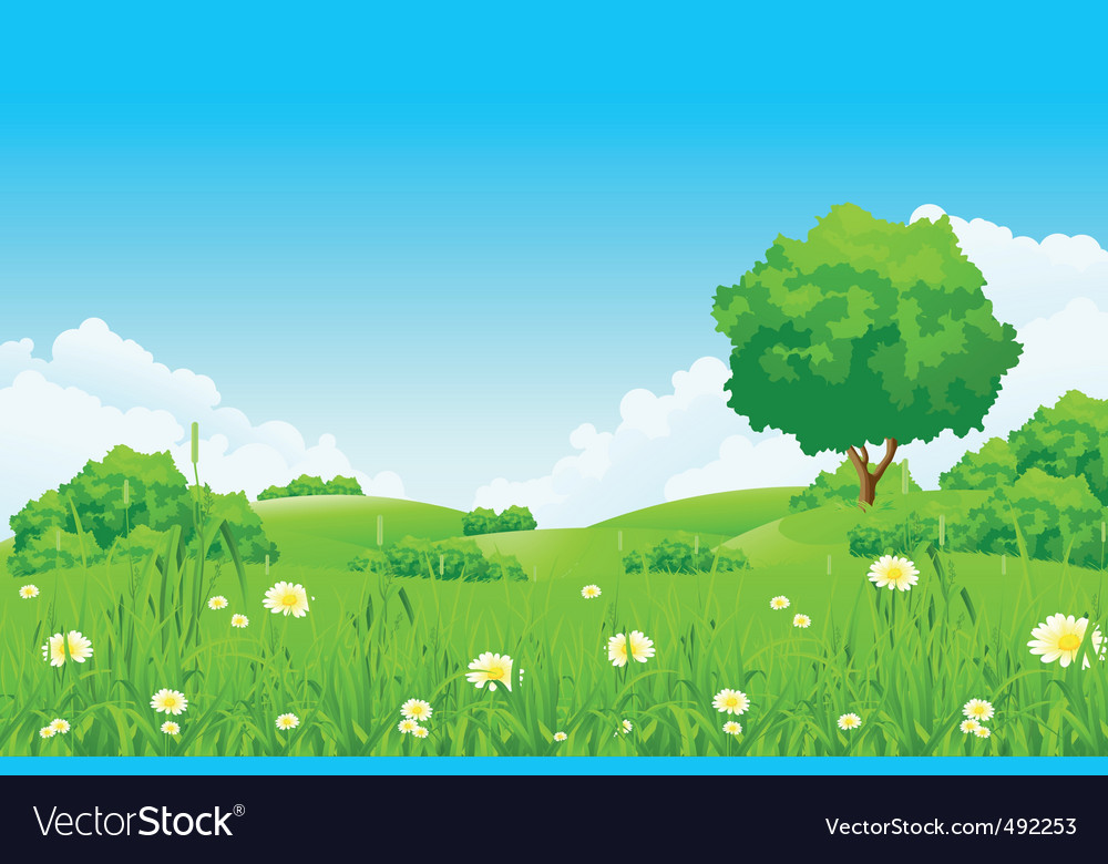 Green landscape vector | Price: 3 Credit (USD $3)
