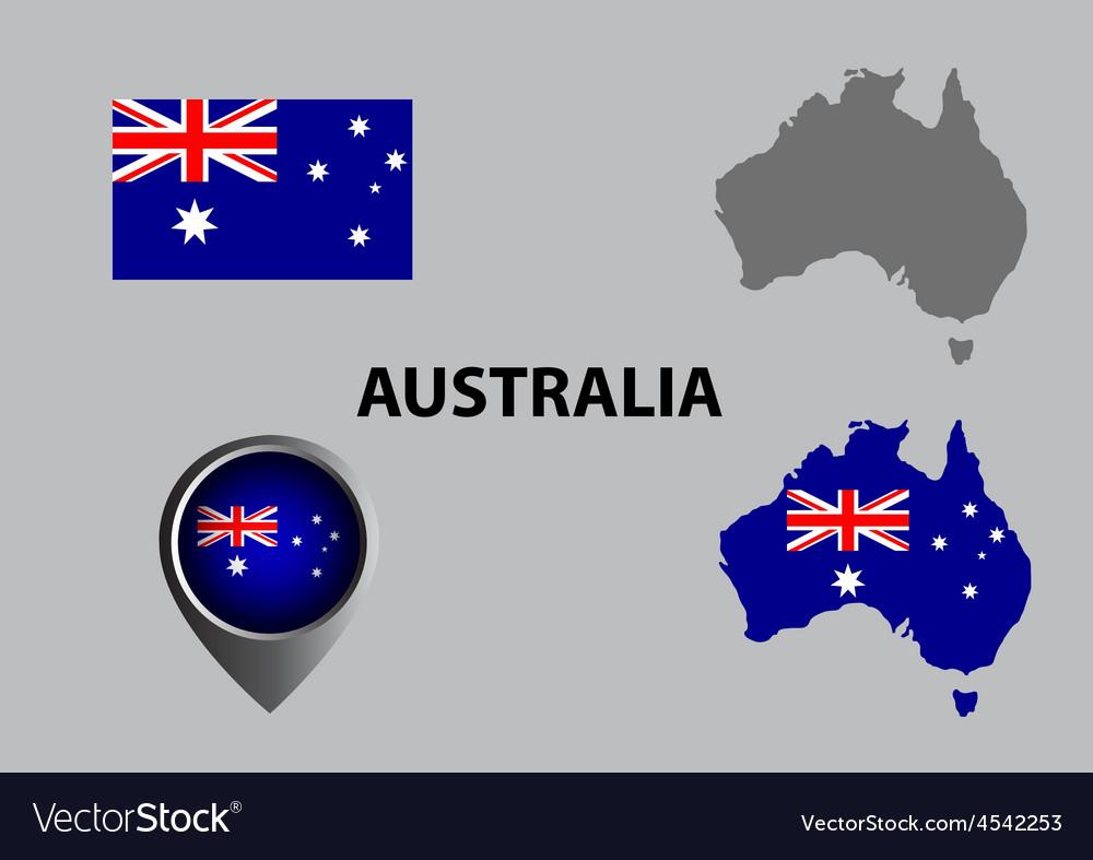 Map of australia and symbol vector | Price: 1 Credit (USD $1)