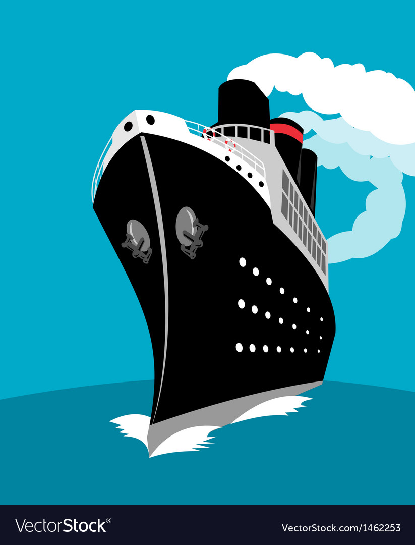 Ocean liner passenger cruise ship vector | Price: 1 Credit (USD $1)
