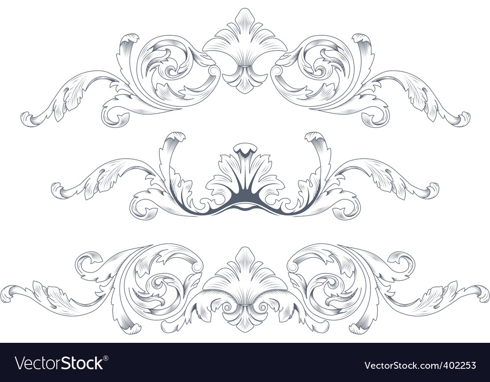 Ornamental elements vector | Price: 1 Credit (USD $1)