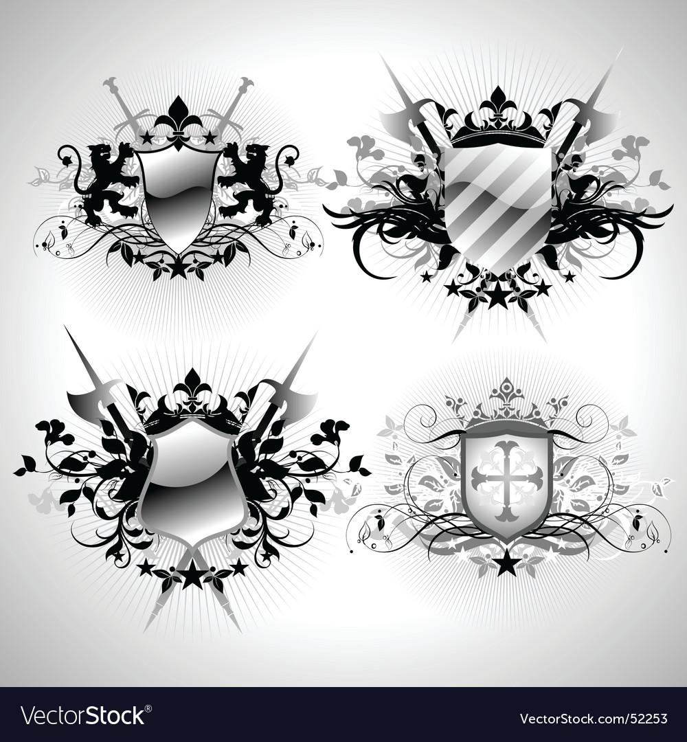 Ornamental shelds vector   Price: 1 Credit (USD $1)