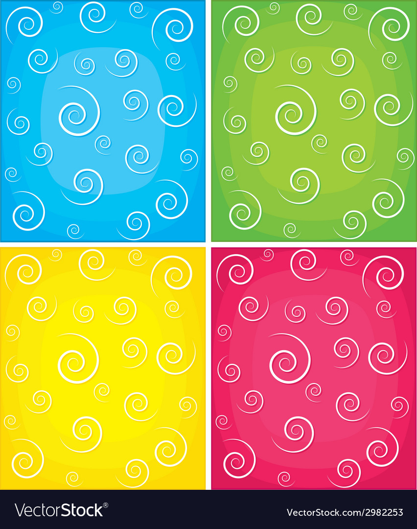 Set of swirl backgrounds vector | Price: 1 Credit (USD $1)