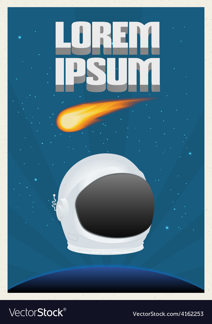 Space theme poster vector | Price: 1 Credit (USD $1)
