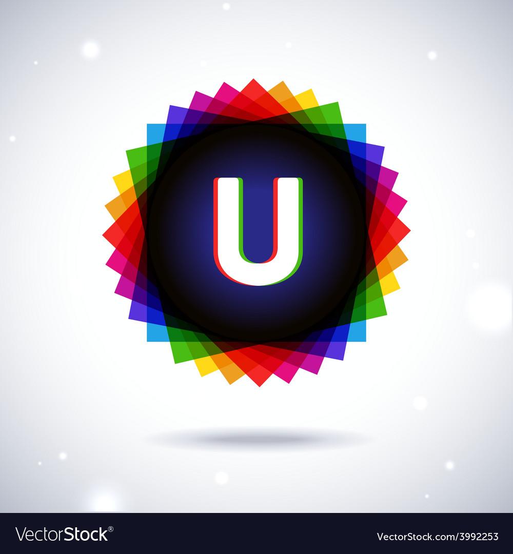 Spectrum logo icon letter u vector | Price: 1 Credit (USD $1)