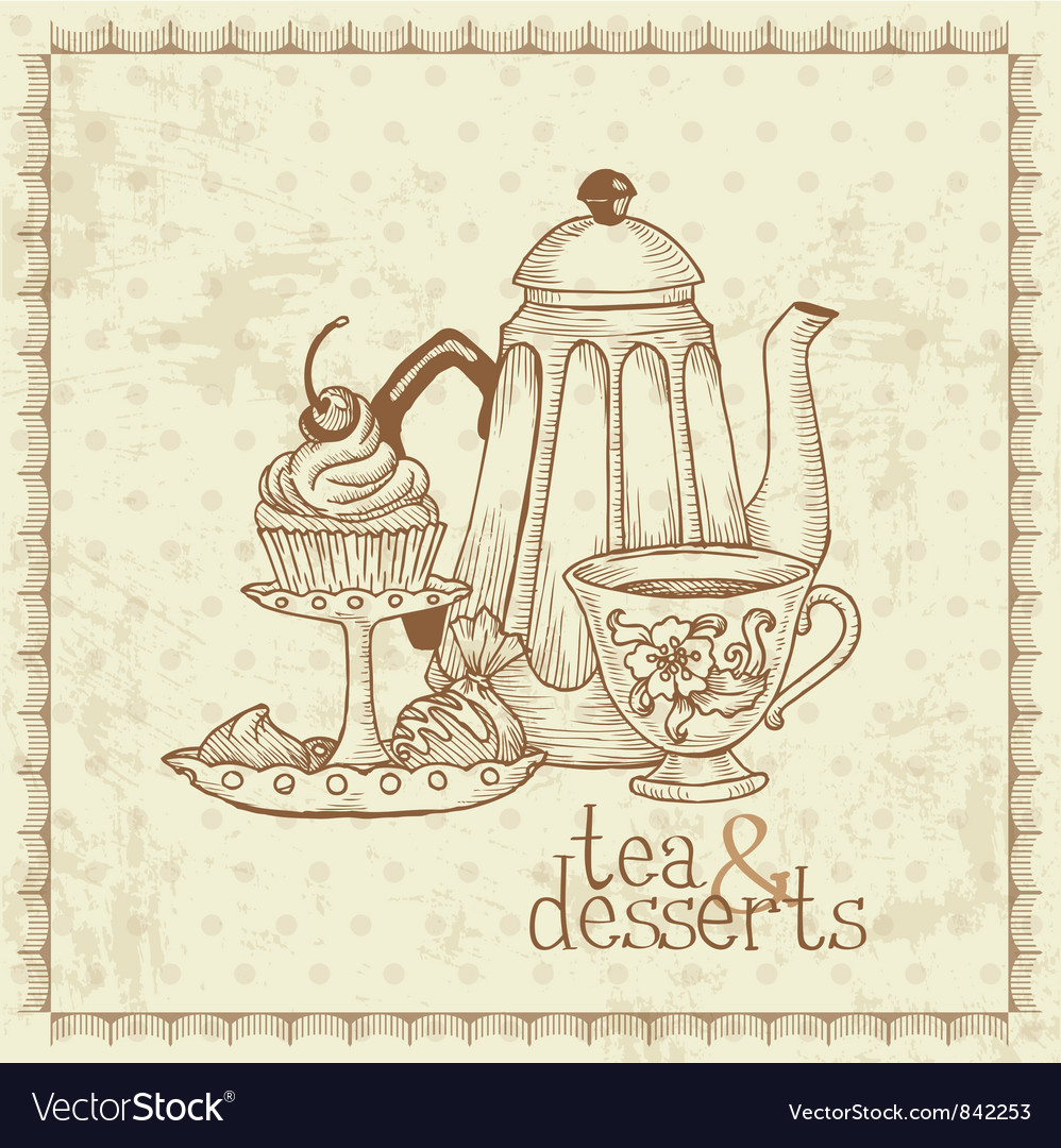Tea and desserts vector | Price: 1 Credit (USD $1)