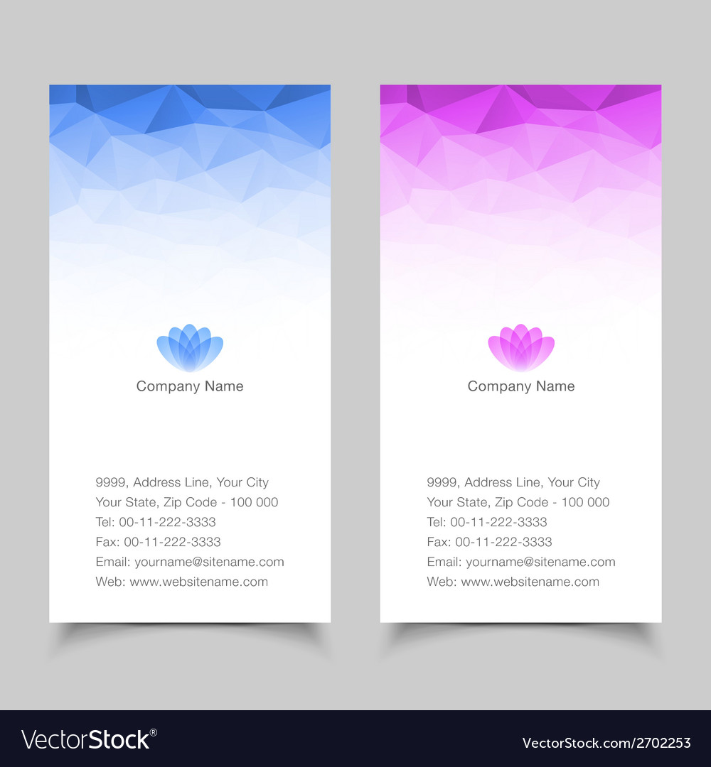 Vertical business card abstract background vector | Price: 1 Credit (USD $1)