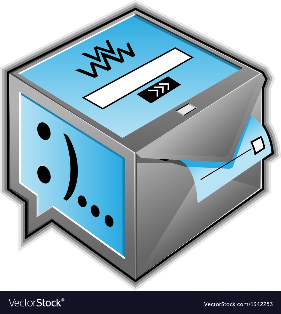 Web communications icon vector | Price: 1 Credit (USD $1)