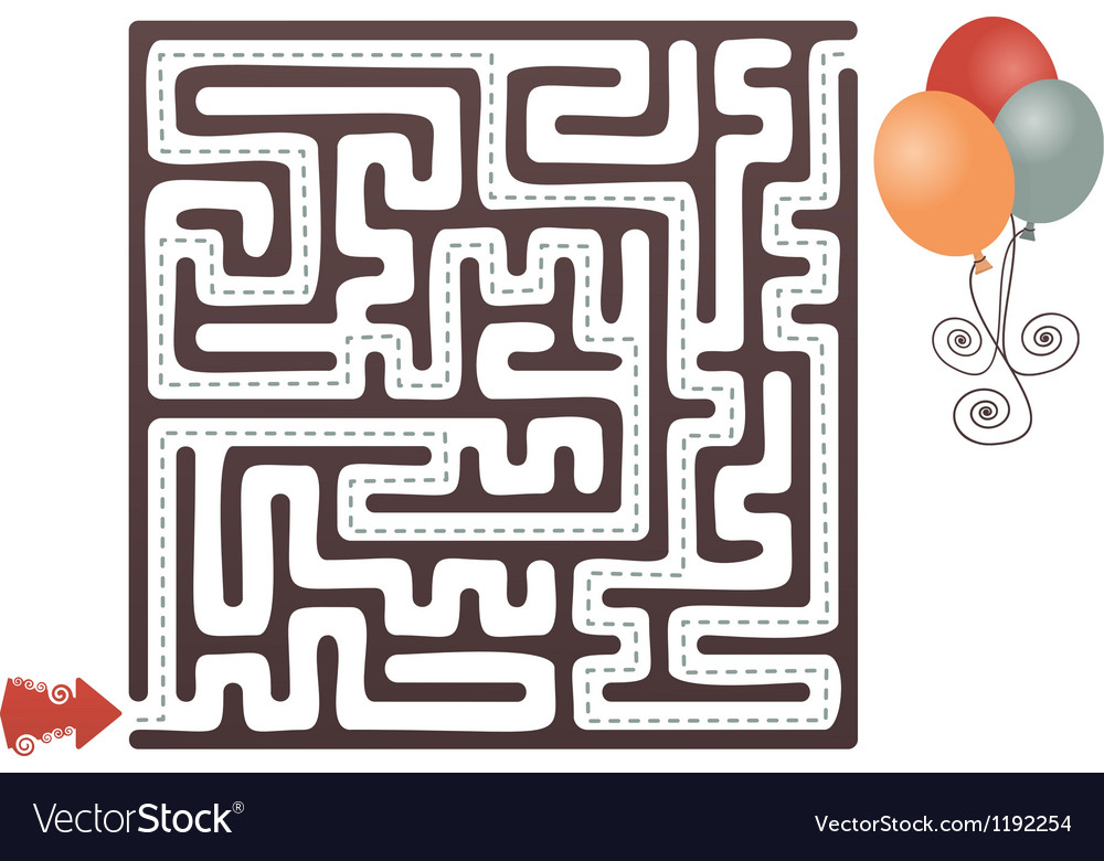 Balloon maze vector | Price: 1 Credit (USD $1)