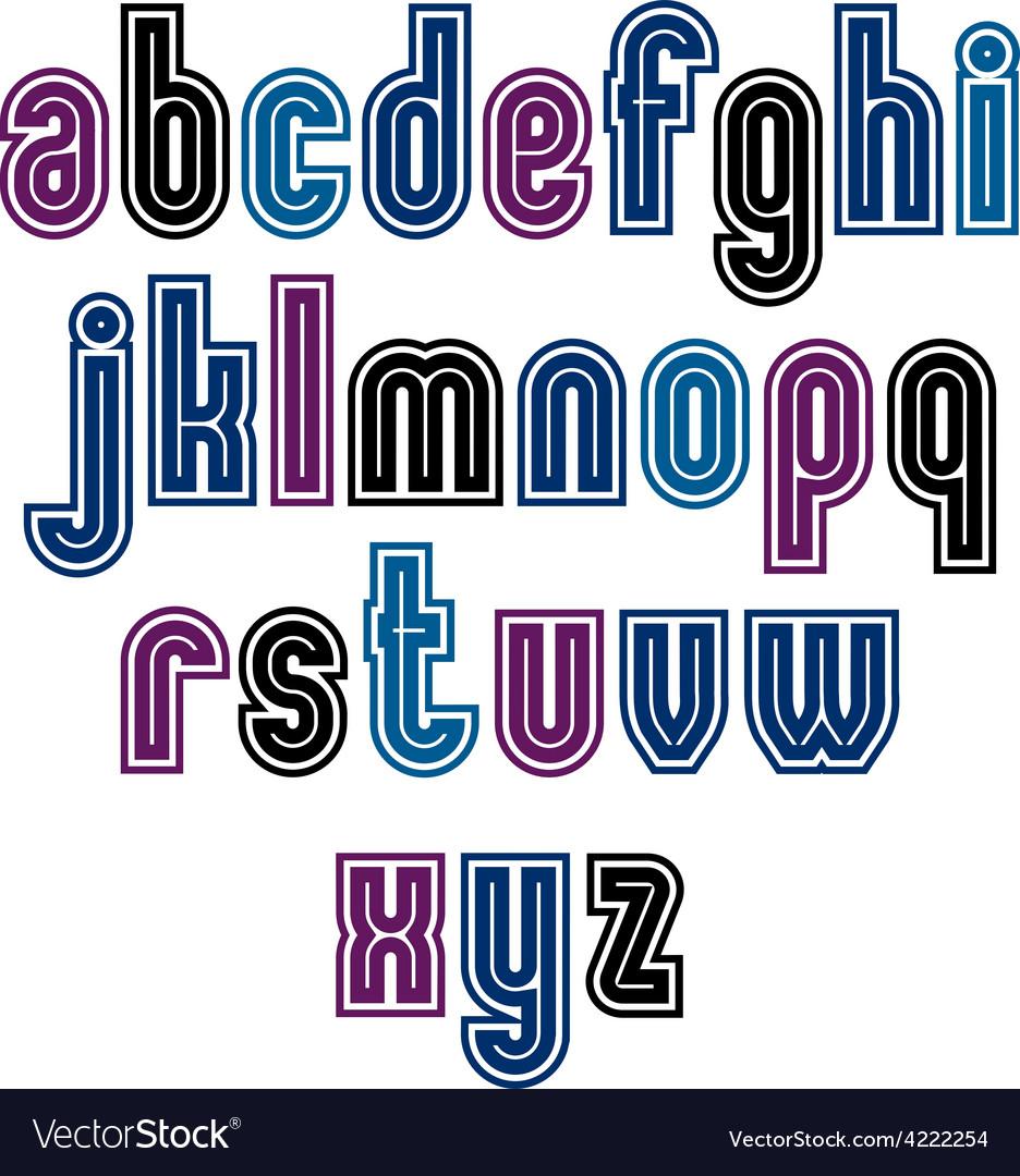 Binary striped distinct font geometric bold bright vector | Price: 1 Credit (USD $1)