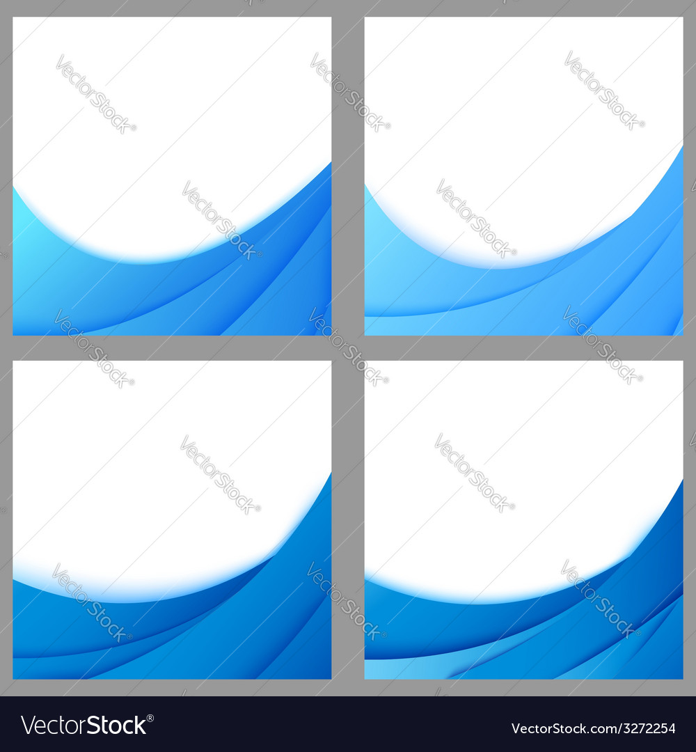 Blue business layered flyer backgrounds collection vector   Price: 1 Credit (USD $1)