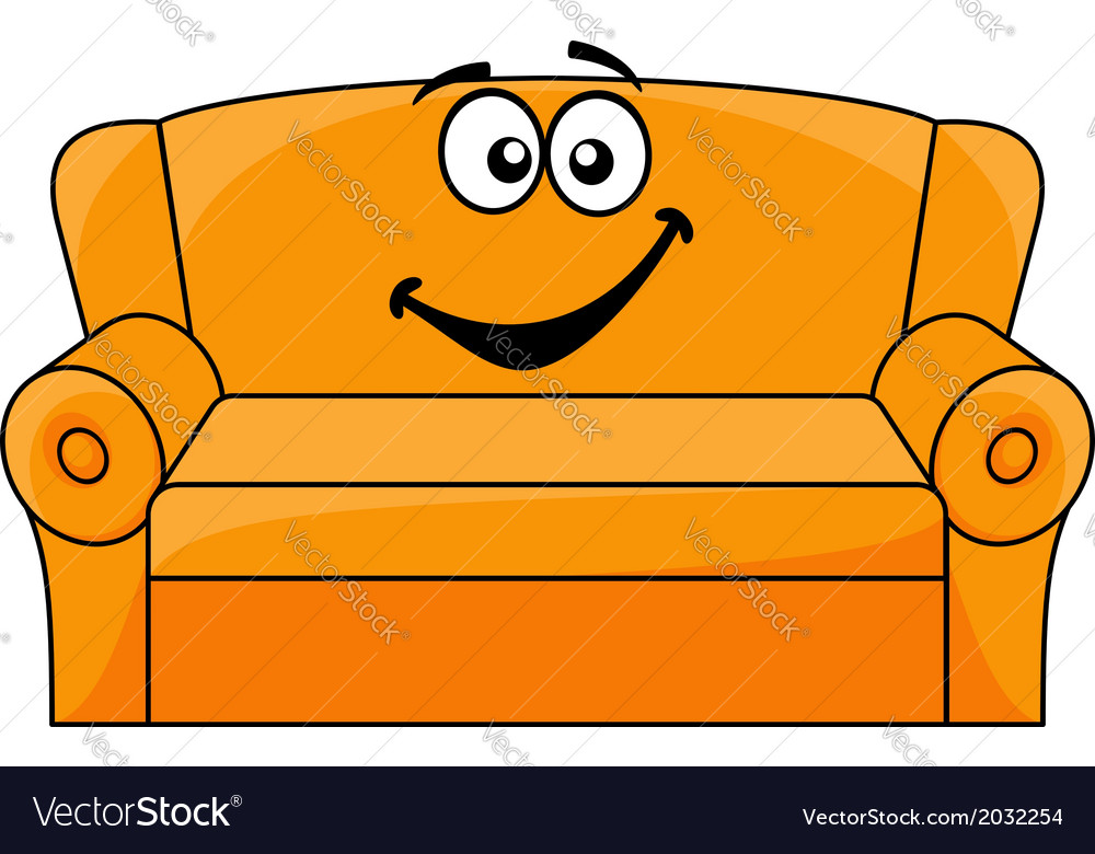 Cartoon upholstered couch vector | Price: 1 Credit (USD $1)