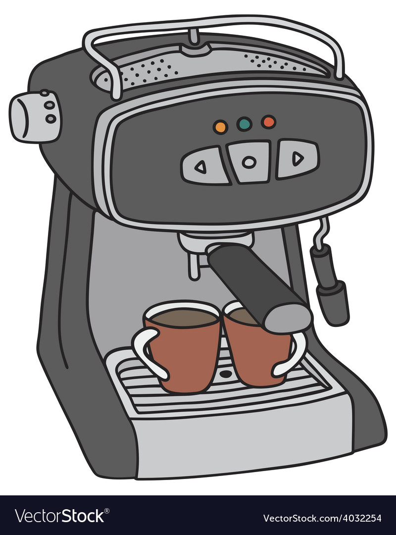 Electric espresso maker vector | Price: 1 Credit (USD $1)