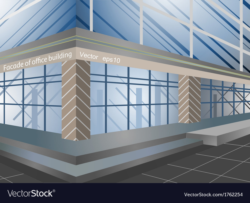 Facade of office building vector | Price: 1 Credit (USD $1)