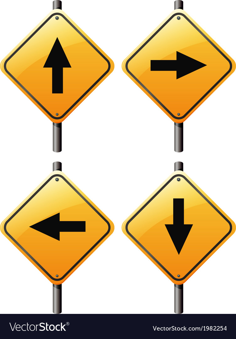 Four arrow signs vector | Price: 1 Credit (USD $1)