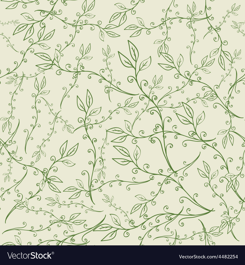 Hand drawn floral seamless pattern vector | Price: 1 Credit (USD $1)
