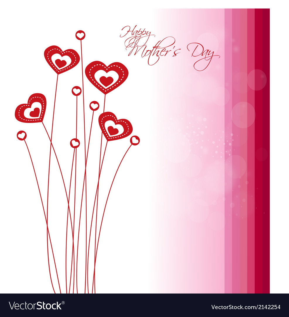 Happy mother day background vector | Price: 1 Credit (USD $1)