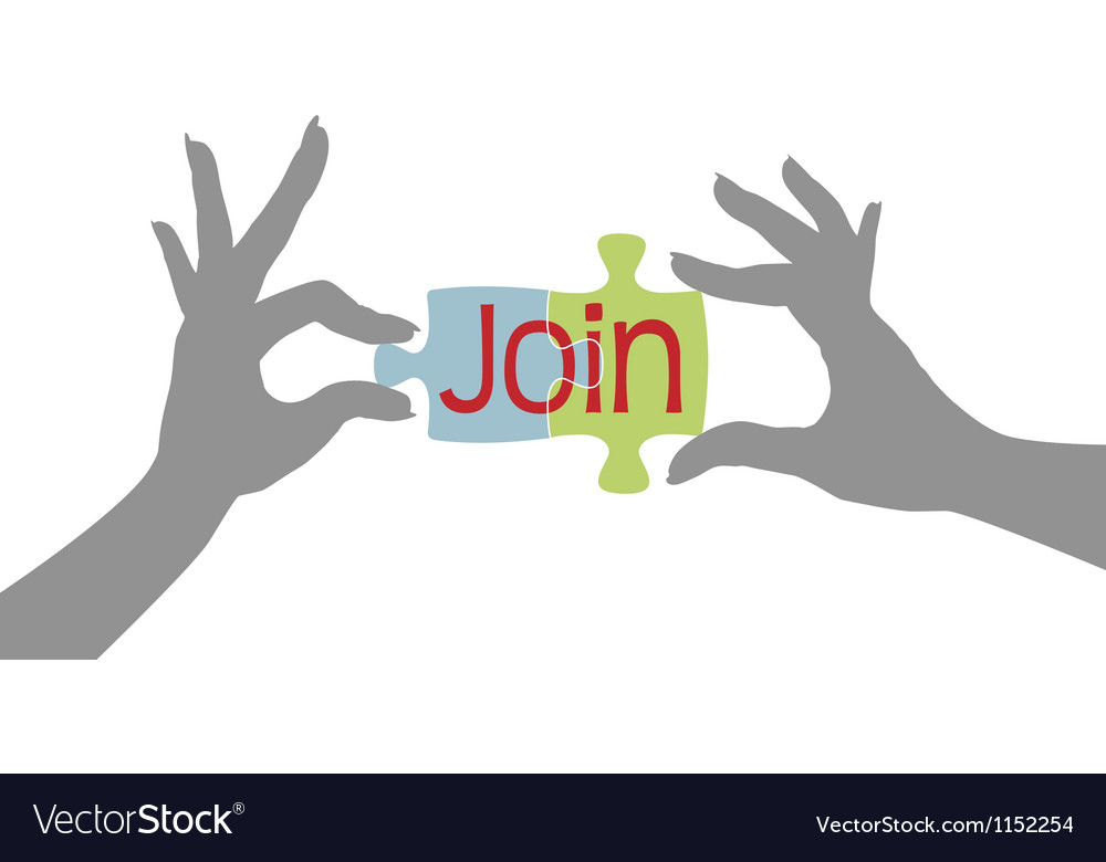 Member hands join together puzzle vector | Price: 1 Credit (USD $1)