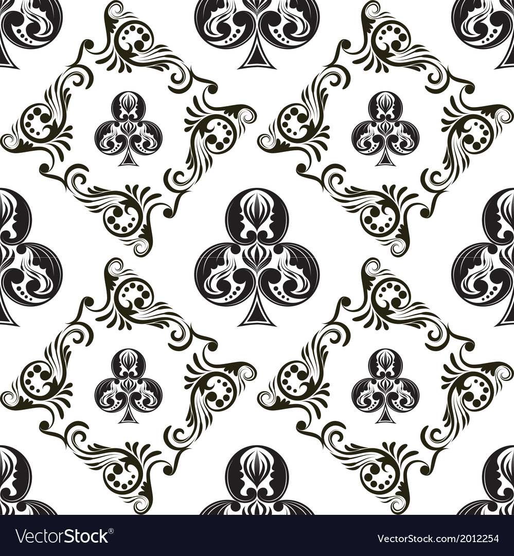 Pattern club ornamental black and white vector | Price: 1 Credit (USD $1)