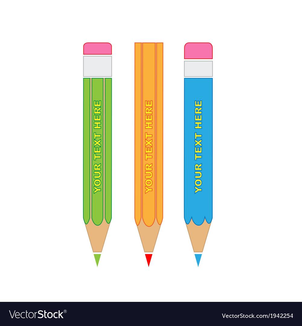 Pencils icon vector | Price: 1 Credit (USD $1)