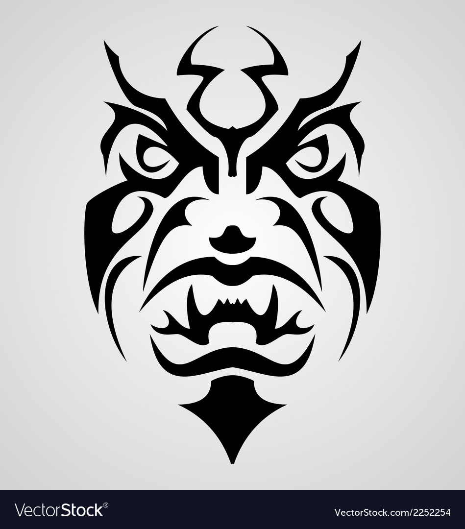 Tribal face vector   Price: 1 Credit (USD $1)