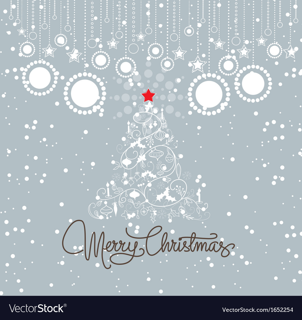 Vintage christmas blue card vector | Price: 1 Credit (USD $1)