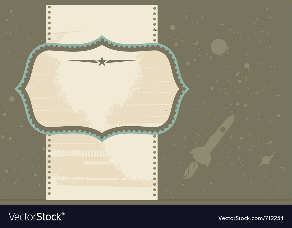 Vintage document frame vector | Price: 1 Credit (USD $1)