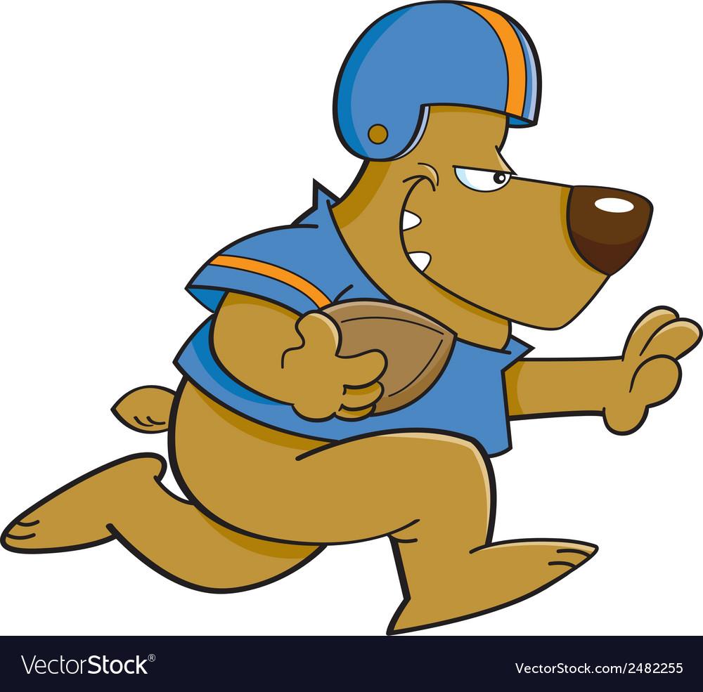 Cartoon football bear vector | Price: 1 Credit (USD $1)