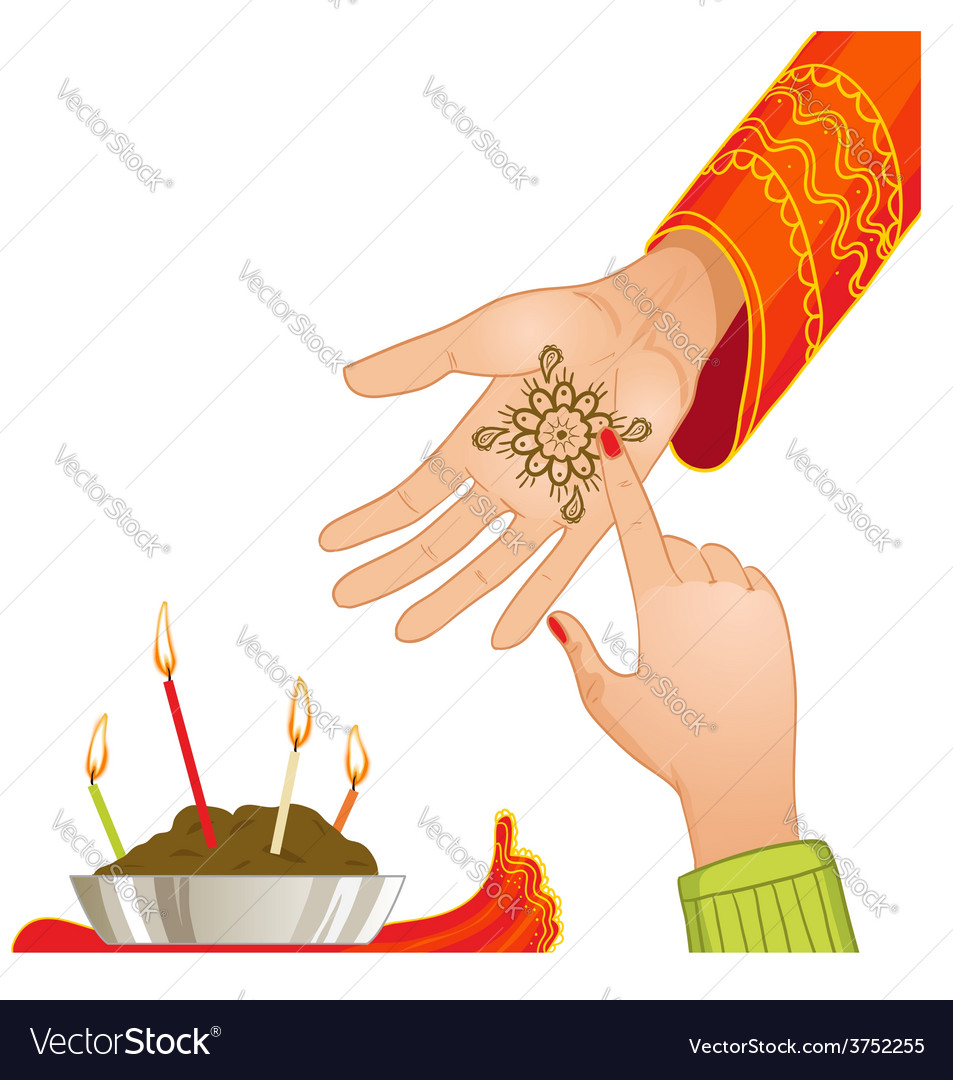 Ceremony at henna night vector | Price: 1 Credit (USD $1)