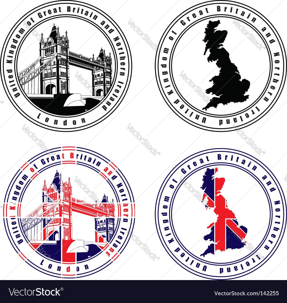 English stamp vector | Price: 1 Credit (USD $1)
